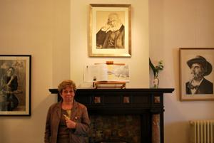 Irène Vandenameele à la Maison Magritte